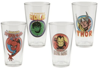 Marvel Comics The Avengers Collectible Character Pint Glasses