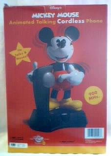 Disney Collectibles - Mickey Mouse Cordless Talking Telephone