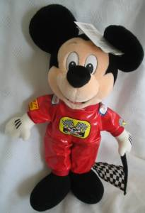 Walt Disney Collectibles - Mickey Mouse Racing Stuffed Animal