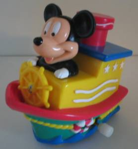 Walt Disney Collectibles - Mickey Mouse Wind Up Boat