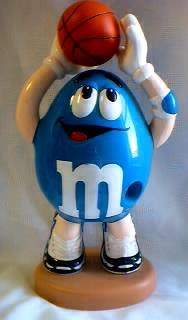 Advertising Collectibles - M & M Blue basketball Dispenser