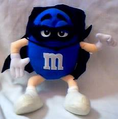 Advertising Collectibles - M & M Blue Plush in Halloween Costume