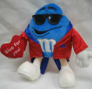 Advertising Collectibles - M & M Blue Valentine Plush