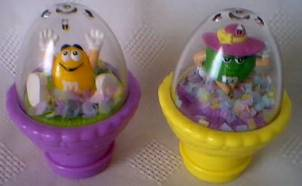 Advertising Collectibles - M & M Easter Dome Action Toppers