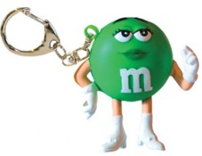 Advertising Collectibles - M & M GREEN Lightup Keychain flash light
