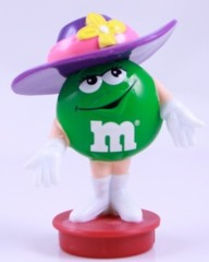 Advertising Collectibles - M & M Green Easter Candy Topper with Hat