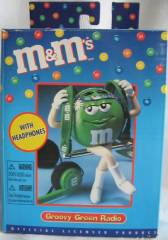 Advertising Collectibles - M & M Green AM/FM Radio
