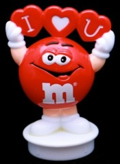 Advertising Collectibles - M & M Valentine Topper