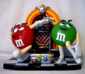 Advertising Collectibles - M & M Jukebox Dispenser