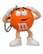 Advertising Collectibles - M & M ORANGE Light up Keyring flashlight