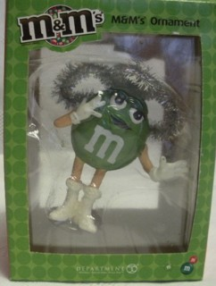 Advertising Collectibles - M & M Green Christmas Ornament Angel