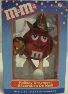 Advertising Collectibles - M & M Red Christmas Ornament - Cowboy Horsey