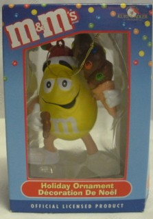 Advertising Collectibles - M & M Yellow Christmas Ornament - Ice Cream