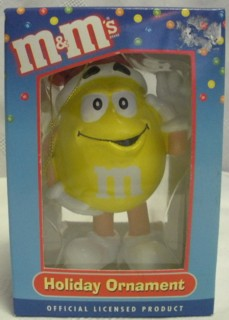 Advertising Collectibles - M & M Yellow Christmas Ornament- Santa Hat