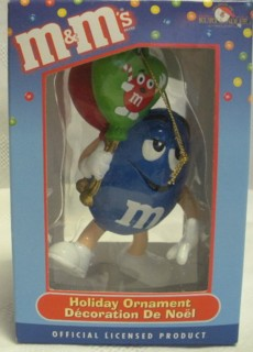 Advertising Collectibles - M & M Blue Christmas Ornament- Balloons
