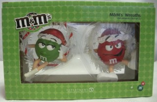 Advertising Collectibles - M & M Red & Green Christmas Ornament