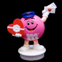 Advertising Collectibles - M & M Valentine Candy Toppers