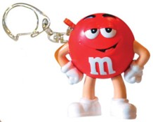 Advertising Collectibles - M & M RED Light up Keychain flashlight