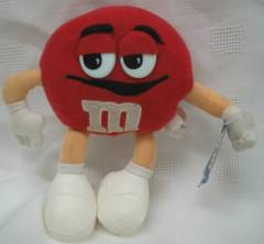 Advertising Collectibles - M & M Red Plush Beanie