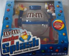 Advertising Collectibles - M & M Blue Make A Splash Dispenser