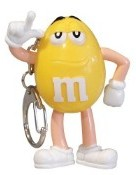 Advertising Collectibles - M & M YELLOW Light up Keyring flash light