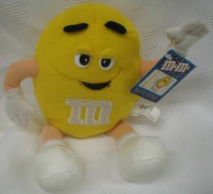 Advertising Collectibles - M & M Yellow Plush Beanie