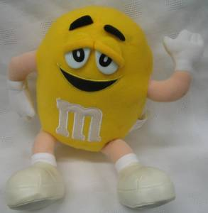 Advertising Collectibles - M & M Yellow Plush