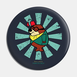 Television Character Collectibles - Hanna Barbera's Morocco Mole Pinback Button