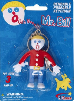 Mister Bill, Saturday Night Live - Ooh No! It's Mr. Bill Bendy Figural Keychain Keyring