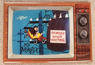 Television Character Collectibles - Mister Magoo Cartoon TV Magnet