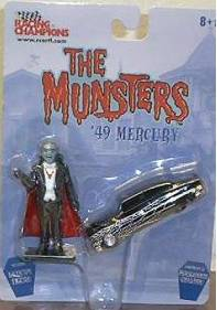 Television from the 1970's Collectibles - The Munsters Diecast Car with Grandpa Figure