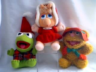 Muppets Collectibles - Kermit, Miss Piggy and Fozzie Plush