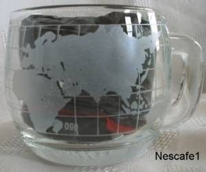 Food Advertising Collectibles - Nescafe World Glass Mug
