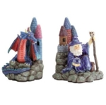 Fantasy Collectibles - Merlin Magician and Castle Bookends 30805