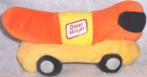 Advertising Collectibles - Oscar Mayer Weiner Mobile Bean Bag