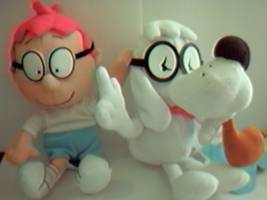 Mr. Peabody & Sherman Collectibles - Mr. Peabody & Sherman Bean Bag and Plush Characters, clip-on keyrings