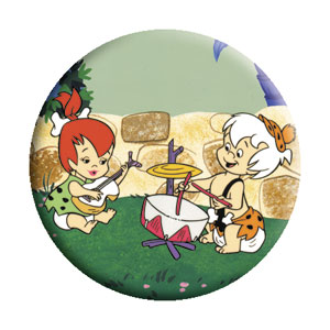 Flintstones Collectibles - Pebbles and Bamm! Bamm!Band Pinback Button