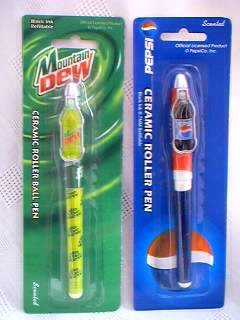 Pepsi-Cola Collectibles - Pepsi and Mountain Dew Pens