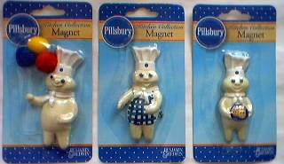 Pillsbury Collectibles - Poppin' Fresh Dough Boy Magnets