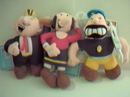 Popeye Collectibles - Wimpy, Olive Oyl, Brutus Keychains