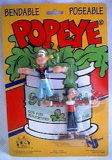 Popeye Collectibles - Popeye and Olive Oyl Bendy Set