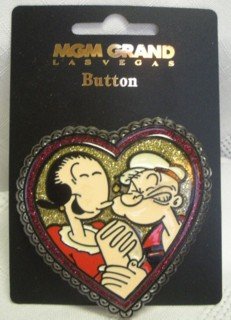 Popeye Collectibles - Popeye and Olive Oyl Heart Pin