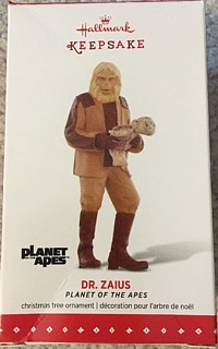 Planet of the Apes Collectibles - Dr. Zaius Vinyl Keepsake XMas Tree Ornament by Hallmark