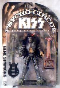 Rock and Roll Collectibles - Kiss Gene Simmons Psycho Circus Figures
