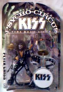 Rock and Roll Collectibles - Kiss Peter Criss Psycho Circus Figures