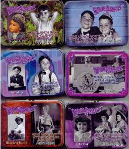 Television Collectibles - Little Rascals Our Gang Spanky, Alfalpha, Darla, Buckwheat Mini Metal Tin