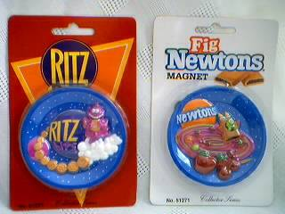 Advertising Collectibles - Ritz and Fig Newton Magnets