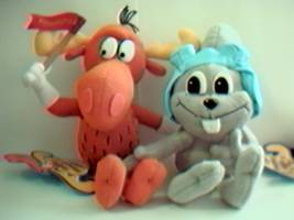 Rocky & Bullwinkle Collectibles - Rocky & Bullwinkle Beanies and Plush Characters
