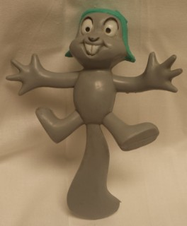 Rocky & Bullwinkle Collectibles - Rocky the FLying Squirrel Wham-O Bendable Figure