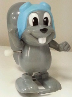 Rocky & Bullwinkle Collectibles - Rocky Squirrel White Knob Windup Walker